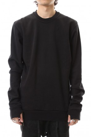 11 BY BORIS BIDJAN SABERI 19-20AW Crew Neck Sweat Pullover Black