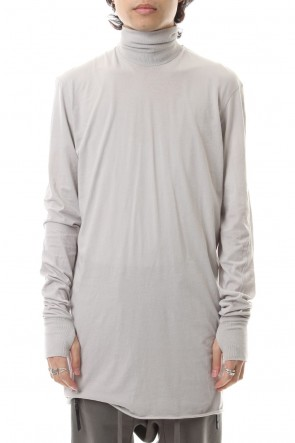 11 BY BORIS BIDJAN SABERI 19-20AW Turtle Neck Long Sleeve Lignt Gray Dye
