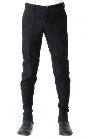 Heavy Cotton Double Face Back Zip Pants
