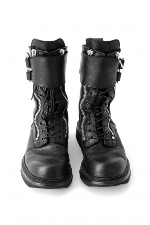 W SIDE ZIP MILITARY BOOTS Ver.1