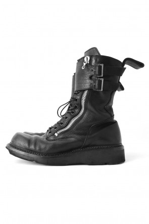 JULIUS 17-18AW W SIDE ZIP MILITARY BOOTS Ver.1