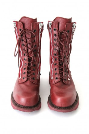 W SIDE ZIP MILITARY BOOTS Ver.2