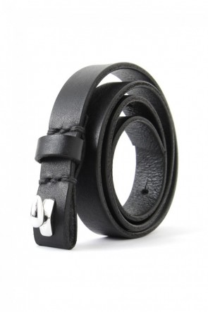 17SS Leather long bracelet BLACK