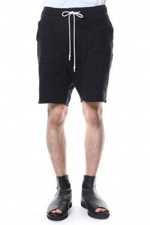 RIPVANWINKLE 18-19AW Cold Dyed Cross Shorts R+029 GRPHITE