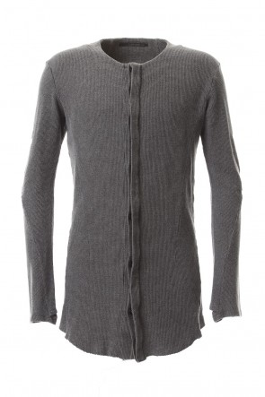 D.HYGEN20SSSumi-dyed Japanese paper mixed waffle T-Cardigan