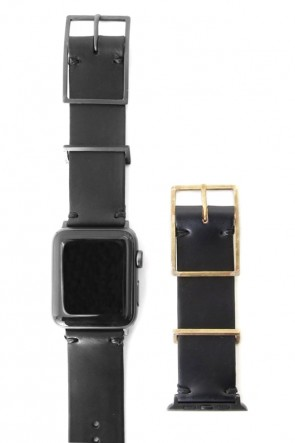 iolom Classic Apple Watch Band - Guidi Calf Leather - Brass Type 2