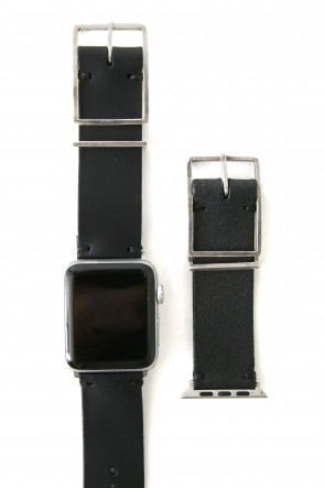 iolom Classic Apple Watch Band - Guidi Calf Leather - Silver Type 2