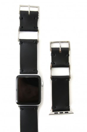 iolom Classic Apple Watch Band - Guidi Calf Leather - Silver Type 1