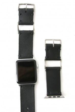 iolom Classic Apple Watch Band - Guidi Calf Reverse Leather - Silver Type 1