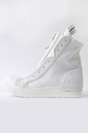 17SS NYCER W Front Zip Sneakers WHITE