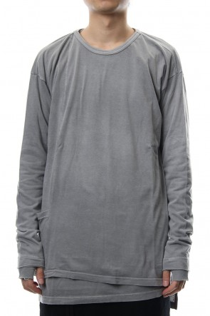 The Viridi-anne18-19AWProduct Dyeing Coloring Stitching Layered Long Sleeve T L.Gray