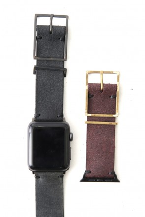 iolom Classic Apple Watch Band - Guidi Calf Reverse Leather - Brass Type 2