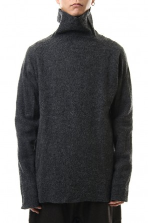 WARE 19-20AW Boucle Bottle Neck L/S Knit D.Gray