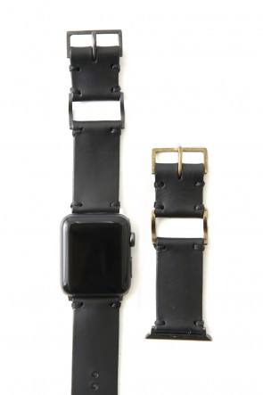 iolom Classic Apple Watch Band - Guidi Calf Leather - Brass Type 1