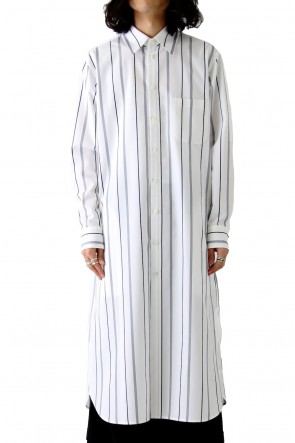 Ground Y 18SS Long Shirt Dress C/E Stripe A