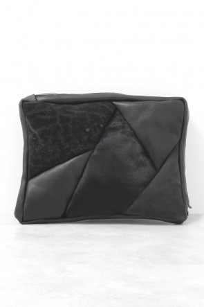 DEVOA 15-16AW Clutch Bag Animals - Elephant Leather