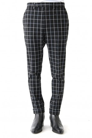 GalaabenD 18SS Tattersall Check Stretch Slacks
