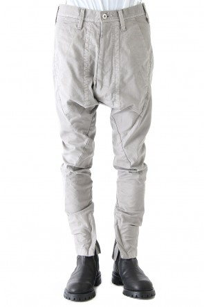 JULIUS 18PS SEAMED FRONT CROTCH PANTS