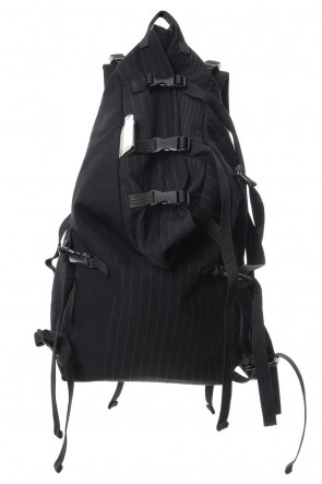 The Viridi-anne 18-19AW 'macromauro' Striped Backpack Large