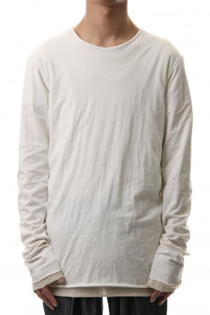 WARE 20SS Cotton W-face L/S T-Shirts White x Off White