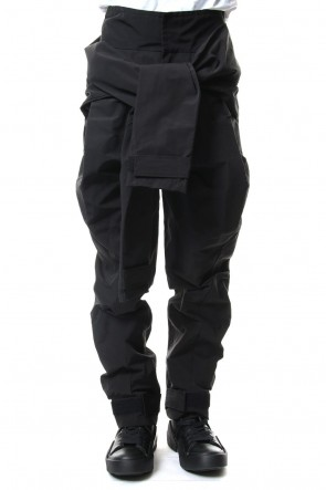 JULIUS 19SS COMBINATION SLEEVE BAGGY PANTS