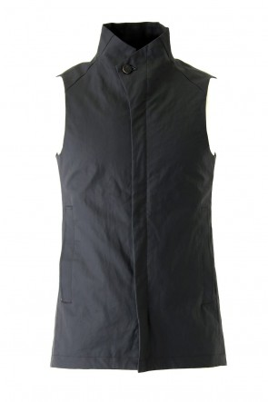 DEVOA 18SS Vest Linen Coated Polyurethane Black