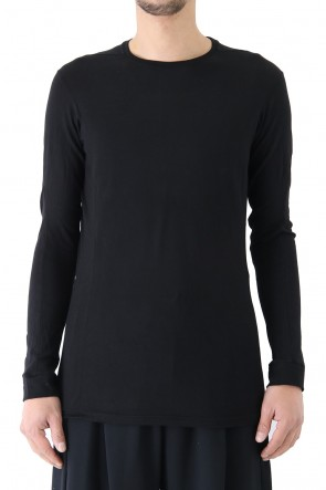 DEVOA 18SS Long Sleeve Silk / Cotton Jersey Black