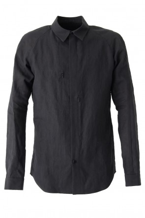 DEVOA 18SS Shirt Washi Washer Finish Black