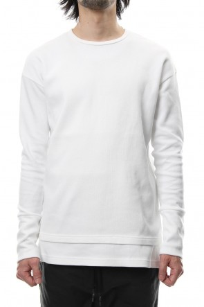 RIPVANWINKLE 18-19AW Double Face Layered L/S  RB-010 White