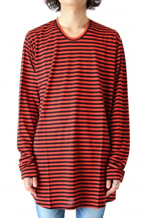 GalaabenD 17-18AW MERCURY PLAIN STITCH BORDER SHIRT