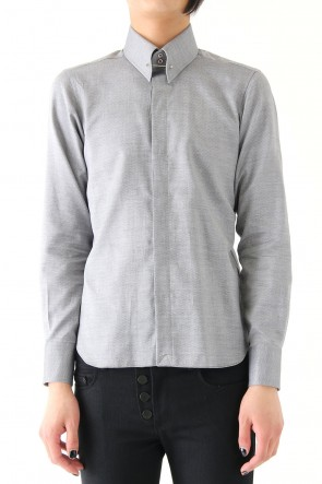 QL Mansion Maker 17SS TAILORED : C 004 Regular Pin Hole GRAY