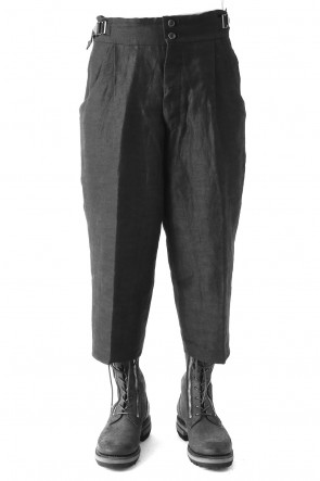 Linen Nylon Gabadine Baggy Cropped Pants