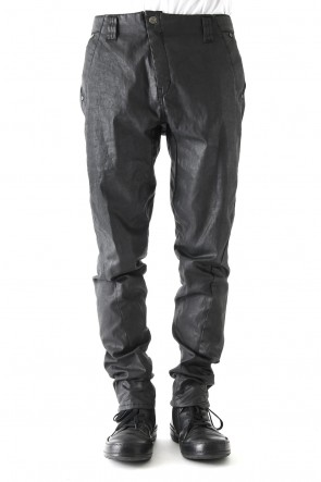 Slim pants    Cotton p.u. finish