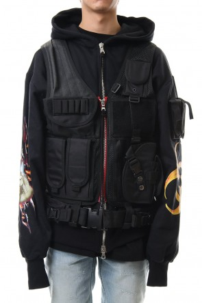 CAVIALE 19-20AW Vest Docking Hoodie
