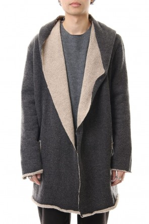 Cotton Pile Hooded Coat