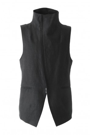 Wrapped High Neck Linen Vest