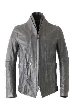 SADDAM TEISSY 18SS Layered Neck Leather Jacket