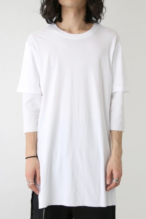 The Viridi-anne 18SS Smooth Layered Three Quarter Sleeve Tee