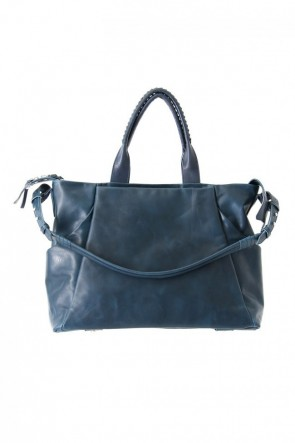 cornelian taurus Classic Wall shoulder bag - Cow Mineral - Dark Navy