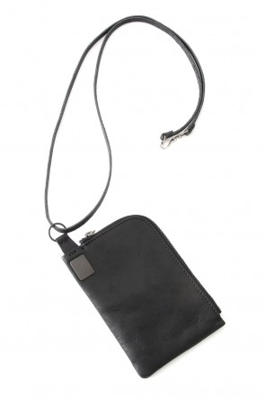 iolom Classic Leather Coin Case necklace Square Type