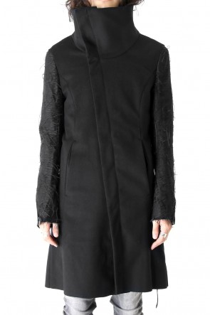 Cashmere Wool & Cow Leather Part Coat
