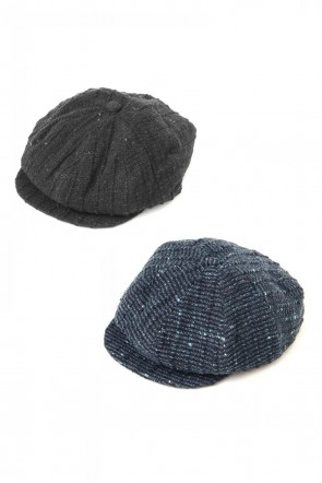 individual sentiments 17-18AW Cap A21 Wool Cotton Slub Yarn Tweed