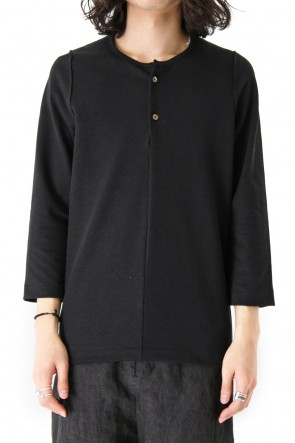 individual sentiments18SSThree Quater Sleeve T-shirt CT57S Linen Cotton Reversible Jersey