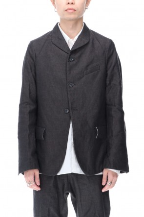 Bergfabel 20-21AW Herringbone Tyrol Jacket Black Blue