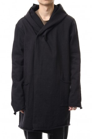 WARE 19-20AW Heavy Jersey Hooded Coat Black