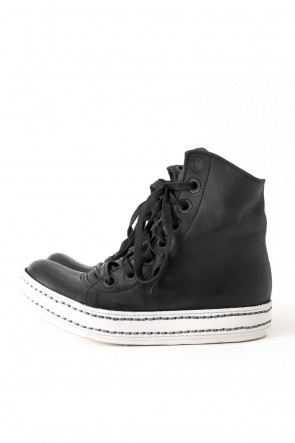 James Kearns 16-17AW 8holes Horse Leather (GUIDI) BLACK×WHITE