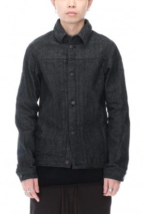 DEVOA 20-21AW Jacket Denim 13oz cotton selvedge Black
