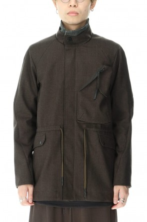 "DEVOA 20-21AW Field Jacket Schoeller ""C-CHANGE"" Khaki Gray"