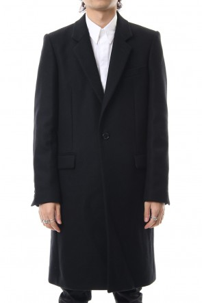 JOHN LAWRENCE SULLIVAN 19-20AW WOOL MELTON CHESTERFIELD COAT