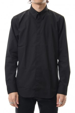 JOHN LAWRENCE SULLIVAN 19-20AW BROADCLOTH BUTTON DOWN SHIRT Black